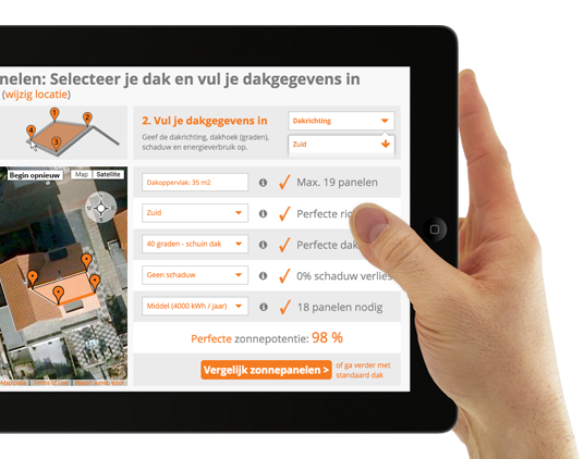 CompareMySolar op iPad